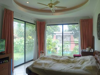 The bedrooms are all light and airy