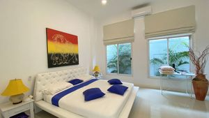 The bedrooms are modern and luxurious