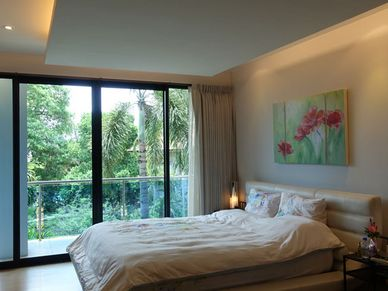 The bedrooms are nicely designed