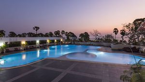 The condos pool at your footsteps