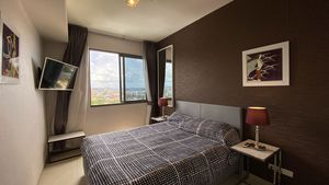 The cosy bedroom offers great city views or you watch a movie