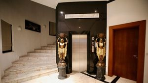 The elevator to the top