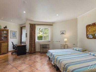 The generous master-bedroom