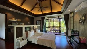 The gorgeous upstairs master-bedroom