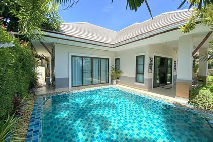 The intimate pool offers good privacy