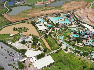 The land is right adjacent to Asias most popular water park