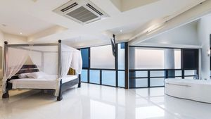 The light and airy master-bedroom