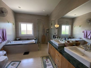 The master-bathroom has it all