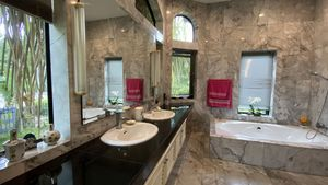 The master-bathroom is worth two photos, we think
