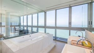 The master-bathroom with jacuzzi tub