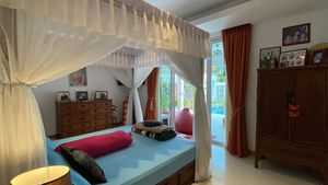 The master-bedroom. Just step out to the pool
