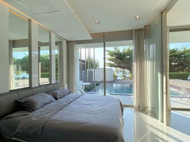 The master-bedroom