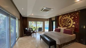 The master-bedroom is a true suite