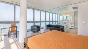 The master-bedroom with panoramic views