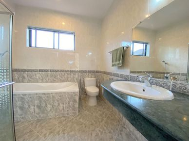 The master bathroom - one of four bathrooms