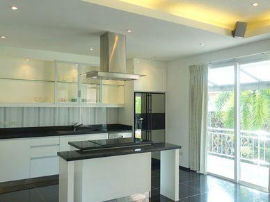 The modern open-plan kitchen