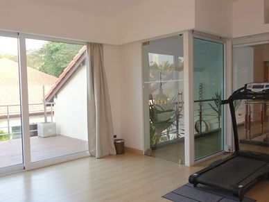 The private gym with terrace