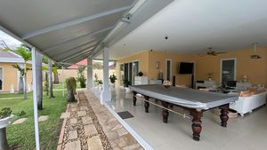 The snooker-table at the huge main-house terrace