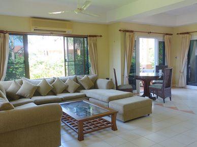 The sofa and lounge-area