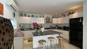 The top modern indoor kitchen with breakfast bar