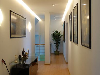 The upstairs gallery