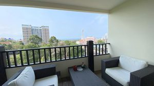 There are two balconies with sea views