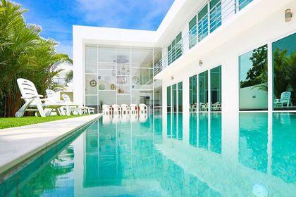 Views across the 20 meter pool