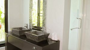 A bathroom at this high end residence above Pattaya