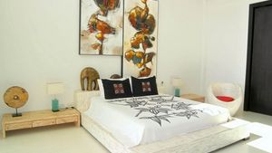 A bedroom at this high end residence above Pattaya