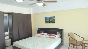 Double bed, built-in wardrobe, ceiling-fan and air condition
