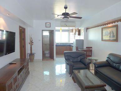 Living-area seen towards the kitchenette