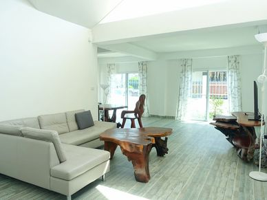Living-room towards the outdoors