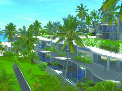 Seafront terrace building at this seaview 1-bedroom condo Na-Jomtien