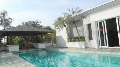 The beautiful pool and the teak-sala