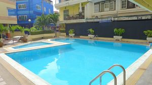 The communal pool of the project