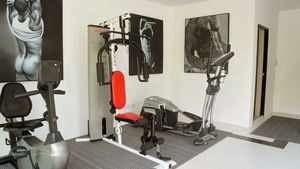 The gym at this high end residence above Pattaya