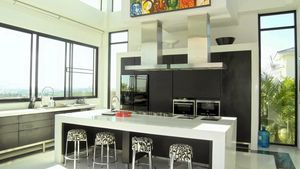 The kitchen at this high end residence above Pattaya