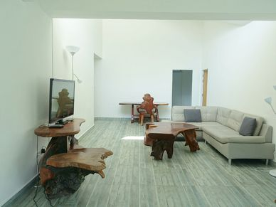 The living-room towards the bedrooms
