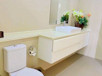 Views into a bathroom