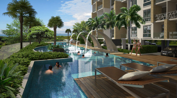 Water Park Modern 1 Bedroom Condo With Balcony At Top