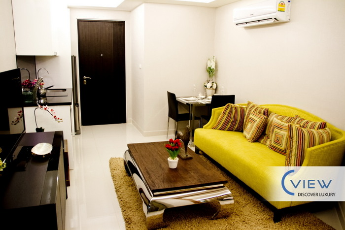 C view modern studio condo top pratumnak location for for Interior designs for studio type condo