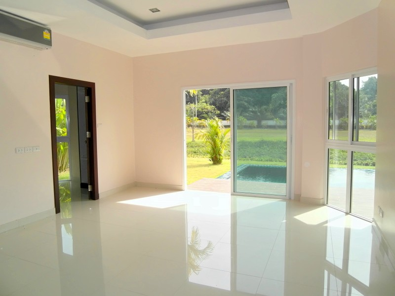 the 3rd bedroom of this new spacious pool villa with 4 bedrooms east